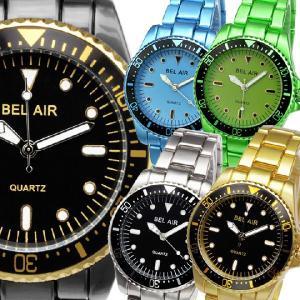 お1人様2点限りセール 腕時計 メンズ腕時計 回転ベゼル 1カラーコーティング  メタルベルト クォーツ 男性用 JH27|springstate