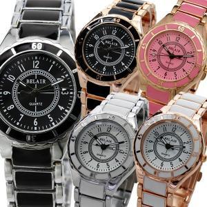 腕時計 レディース腕時計 コーティングバイカラーベルト シンプル文字盤 メタルベルト クォーツ 女性用 JH4S|springstate