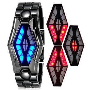 日常生活防水 ステンレスブレスレットのバングルLED腕時計 LEDデジタル時計 デジタルウォッチ メンズ腕時計 送料無料|springstate