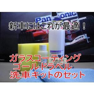 ガラスコーティング ゴールドラベル100ml洗車職人のセット|springwood
