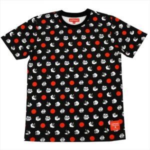 "ASPHALT YACHT CLUB(アスファルトヨットクラブ) Tシャツ ""DOTTED ROSE TEE"" カラー BLACK|sprout-web"