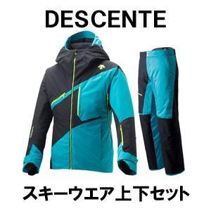 18-19モデル DESCENTE デサント スキーウエア上下セット ジャケット DWUMJK51 パンツ DWUMJD51 Mサイズ|spshop-zero