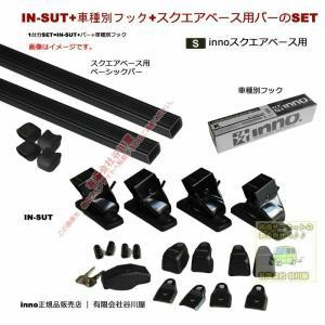 マツダ:CX-8:ルーフレール無し:KG#P系:(INSUT IN-B127 K703):innoベースキャリアset sptanigawaya