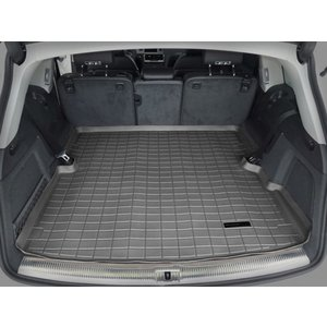 WeatherTech Audiアウディ Q7(4L)(Behind 2nd Row) (2006〜2015年)カーゴライナー/ラゲッジマット(ブラック)|sptanigawaya