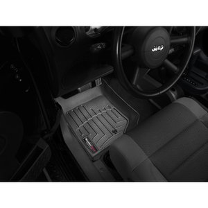 WeatherTech JEEPジープ ラングラーアンリミテッド(2007〜2011年)左ハンドル車 フロアマット(フロント&リア)(ブラック)wt44105-1-2|sptanigawaya