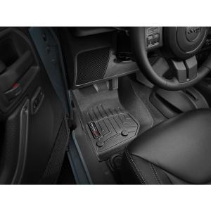 WeatherTech JEEPジープ ラングラーアンリミテッド(2014年開始モデル)左ハンドル車 フロアマット(フロント&リア)(ブラックwt44573-1-2|sptanigawaya