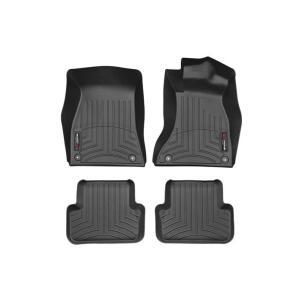 WeatherTech Audiアウディ A4/S4/RS4(8K)右ハンドル 年式:2009〜2015年(フロント&リア)(ブラック)フロアマット/フロアライナー|sptanigawaya