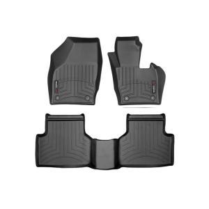 WeatherTech Audiアウディ Q3(8U) 右ハンドル年式:2011年発売開始モデル(フロント&リア)(ブラック)フロアマット/フロアライナー|sptanigawaya