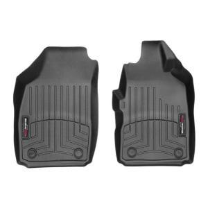 WeatherTech FIATフィアット 500(2012モデル)右ハンドル(フロントのみ)(ブラック)フロアマット/フロアライナー|sptanigawaya