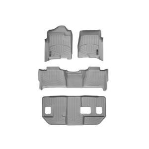WeatherTech シボレー サバーバン(2007〜2011年)左ハンドル車 フロアマット(フロント+2列目+3列目)(グレー)wt46066-1-2-8|sptanigawaya