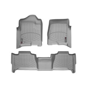 WeatherTech キャデラック エスカレード(2007〜2014年)左ハンドル車 フロアマット(フロント&リア)(グレー)wt46066-1-6|sptanigawaya