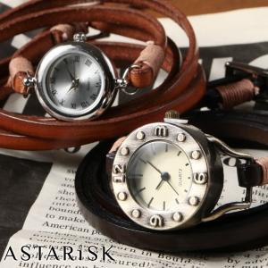 レトロ風 レザーベルト 腕時計|spu
