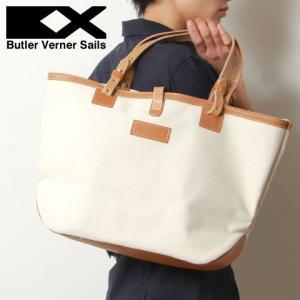 トートバッグ メンズ 鞄 日本製 4号 キャンバス 本革 栃木レザー ヌメ革 Butler Verner Sails バトラーバーナーセイルズ|spu