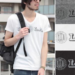 【1,000円均一】【特別価格】 UCLAオフィシャル三素材混天竺オールドプリントVネックTシャツ メンズ  Audience|spu