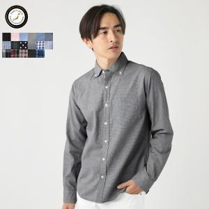 日本製ワイドスプレッドボタンダウン長袖シャツ メンズ|spu