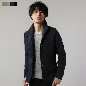 イタリアンカラー ジャケット メンズ T/C ポンチ素材 アウター ジャケット|spu