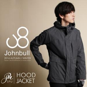 レインジャケット メンズ アウター Johnbull ジョンブル 16523 2.5レイヤー ジップアップ フード|spu