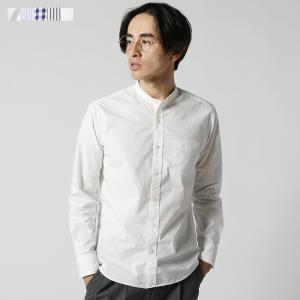 シャツ メンズ バンドカラー スタンドカラー オックスフォード オックス 春夏 メンズファッション|spu