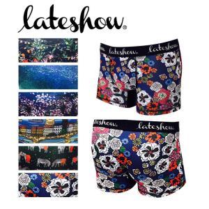 【セール対象】【ボクサーパンツ メンズ 下着】LATE SHOW キャンバス シリーズ 絵画 アンダーウェア ボクサーパンツ メンズ 男性|spu