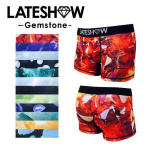 【セール対象】ボクサーパンツ メンズ 下着】LATE SHOW レイトショー Gemstone 誕生日石 ボクサーパンツ アンダーウェア メンズ 男性|spu