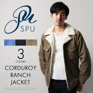 裏ボア コーデュロイ / デニム ランチコート メンズ Buyer's select バイヤーズセレクト|spu