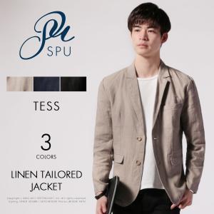 メンズ ジャケット メンズファッション リネン テーラード ジャケット TESS テス|spu