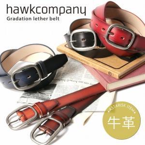 牛革 ベルト hawkcompany ホークカンパニー 35mm スクエア バックル グラデーション 男性 メンズ 女性 レディース ユニセックス 本革 レザー|spu
