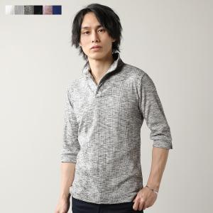 メンズ ポロシャツ メンズファッション ランダム テレコス キッパー 7分袖 ポロシャツ Buyer's Select バイヤーズセレクト spu