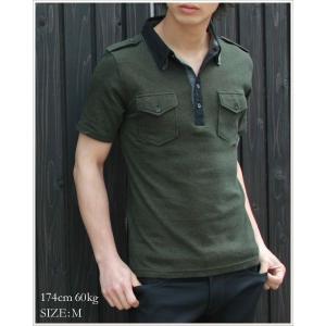 半袖 ポロシャツ メンズ サファリ 二枚衿 ストライプ some might say サムマイトセイ ポロシャツ|spu