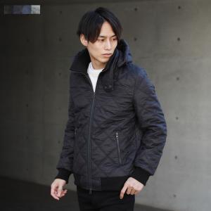 高機能中綿素材 シンサレート ダイヤキルティング 取り外し可能フード付き ジャケット メンズ 男性 アウター コート 防寒|spu