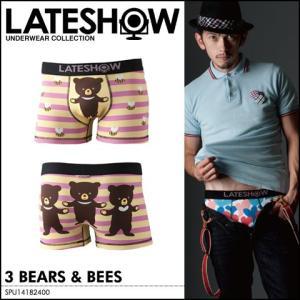 LATE SHOWレイトショーメンズアンダーウェアボクサーパンツ3 BEARS & BEESメンズ|spu