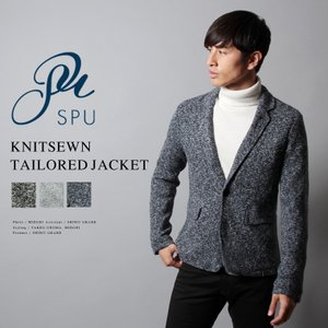 【セール対象】ニットソーテーラードジャケット メンズ|spu