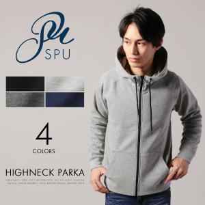 【セール対象】メンズ パーカー メンズファッション ハイブリッド ストレッチ ハイネックパーカー SPU スプ|spu