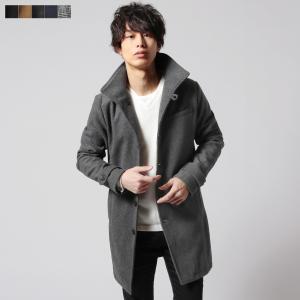 アウター メンズ コート ウール混 メルトン ツイード イタリアンカラー ロング コート 秋 冬 メンズファッション SPU スプ|spu