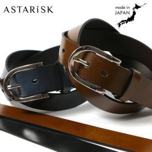 本革 ベルト メンズ イタリアン レザー 日本製 35mm幅 丸バックル 牛革 革 ベルト  ボンデッドレザー 国産|spu