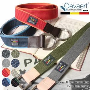 35mm 45mm ゲバルト テープ リング ベルト Gevaert ゲバルト メンズ 男性 D0460Q D0461Q|spu