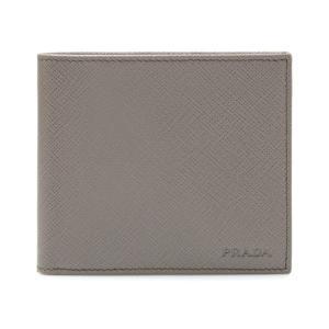 プラダ PRADA 二つ折り財布 グレージュ 2MO738 ...