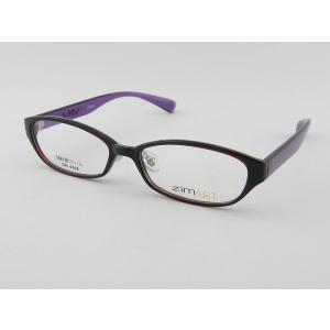ジムアート zimART 6203-6 レンズセット パープル レンズセット 度付き ダテ 超軽量 スカル 度無し ダテ オーバル 軽い 軽量 UVカット 骸骨 紫 ZIFL|squacy