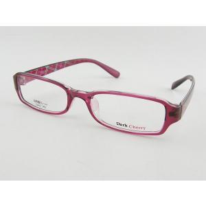 ダークチェリー 193-6 レンズセット 桃 チェック レンズセット 伊達 超軽量 ビジネス 度付き 度付き 度無し ガーリー 軽い 軽量 定番 ピンク 乙女|squacy