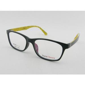 レンズセット ダークチェリー 202-4 度付きメガネ ブラック ユニセックス 眼鏡 めがね 伊達 オーロラ 度なし 大きめ 軽量 レンズ付 イエロー ZIFL|squacy