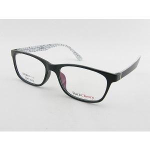 ■レンズセット■ ダークチェリー 202-10 度付きメガネ ホワイト ユニセックス 眼鏡 めがね 伊達 オーロラ シンプル 度なし 大きめ 軽量 レンズ付 柄 ブラック|squacy