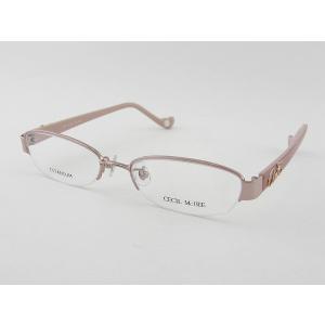 セシルマクビー 3008-4 度付メガネセット ピンク チタ...