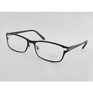 レイバン RayBan 8727D-1074 メガネフレーム ブラック 眼鏡 めがね 軽量 チタン ビジネス 度付可 スマート メンズ 紳士 伊達 ケース付き スクエア 細身|squacy