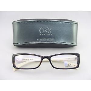 O&X new york メガネフレーム 80A-01 セル 度付対応可 スクエアタイプ クリーム オシャレ デザイン系