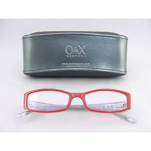 【30%OFF!!】O&X new york 眼鏡 フレーム 73-4 レッド 度付可 ケース付 女性にオススメ カジュアル コントラスト オシャレ