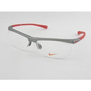 ナイキ NIKE 度付 メガネセット 7072-1-048 レッド ソフト スポーツ ゴルフ テニス マラソン 度付メガネに 走る|squacy