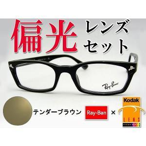 レイバン RAYBAN サングラス RX5017-2000 偏光レンズセットTBR 黒 シンプル 専用ケース付き squacy