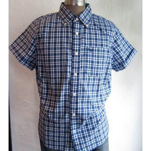 Abercrombie&Fitch アバクロ 半袖シャツ 半袖 メンズ チェック ボタンダウンシャツ|squeezecoconuts