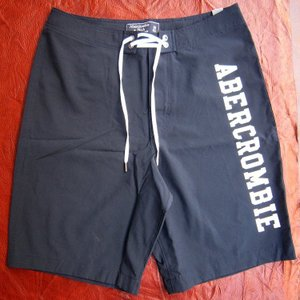 Abercrombie&Fitch アバクロ アバクロンビー&フィッチ スイムパンツ 水着 ショーツ 海パン メンズ ショートパンツ 621775036 紺 ロゴ ネイビー ムース 29|squeezecoconuts