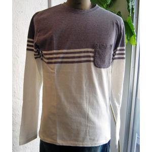 BARNS バーンズ ロンT Tシャツ ボーダー 吊り編み Loop Wheel メンズ 優しい肌触り 1日にできる量が限られた やわらか バーンズア|squeezecoconuts